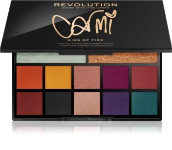 Makeup Revolution Carmi палітра тіней для повік та хайлайтерів