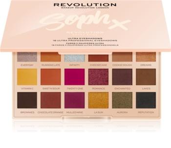 Makeup Revolution Soph X Extra Spice paletka očných tieňov so zrkadielkom
