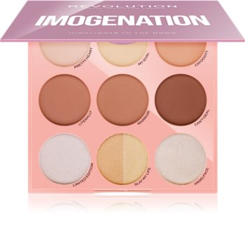 Makeup Revolution Imogenation paleta na kontúry tváre