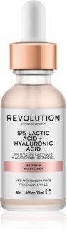 Makeup Revolution Skincare 5% Lactic Acid + Hyaluronic Acid piling za obraz