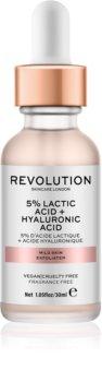Makeup Revolution Skincare 5% Lactic Acid + Hyaluronic Acid pleťový peeling