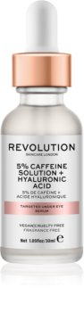 Makeup Revolution Skincare 5% Caffeine solution + Hyaluronic Acid sérum na oční okolí