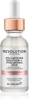 Makeup Revolution Skincare 5% Caffeine solution + Hyaluronic Acid serum za predel okoli oči