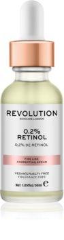 Makeup Revolution Skincare 0.2% Retinol serum za korekcijo drobnih gubic
