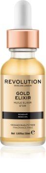 Makeup Revolution Skincare Gold Elixir eliksir do twarzy z olejkiem z dzikiej róży