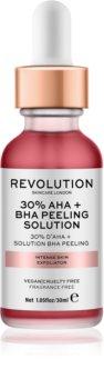 Makeup Revolution Skincare 30% AHA + BHA Peeling Solution intenzivní chemický peeling pro rozjasnění pleti