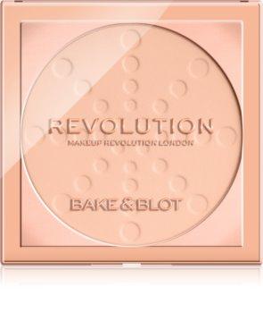 Makeup Revolution Bake & Blot fixační pudr