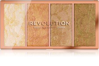 Makeup Revolution Vintage Lace paletka rozjasňovačů