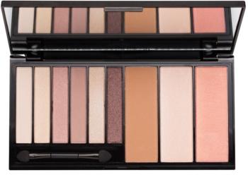 Makeup Revolution Euphoria Bare multifunkční paleta se zrcátkem a aplikátorem