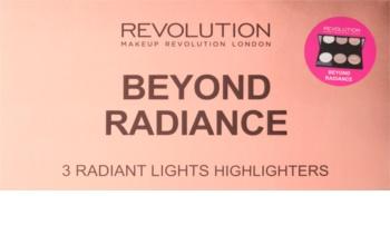 Makeup Revolution Beyond Radiance палетка хайлайтерів з дзеркальцем