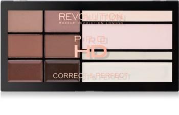 Makeup Revolution Pro HD Brows paleta pre líčenie obočia