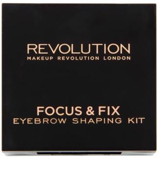 Makeup Revolution Focus & Fix set pentru sprancene perfecte