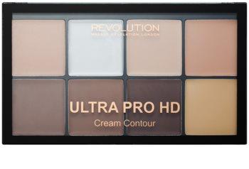 Makeup Revolution Ultra Pro HD Fair палетка для контурів обличчя кремова