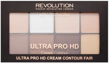 Makeup Revolution Ultra Pro HD Fair paleta na kontúry tváre krémová
