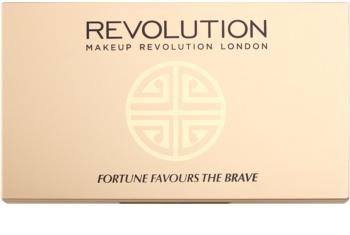Makeup Revolution Fortune Favours the Brave paleta sjenila za oči sa zrcalom i aplikatorom