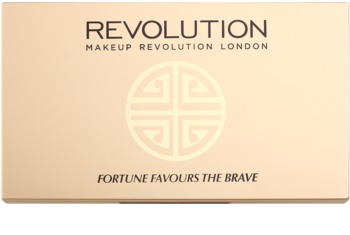 Makeup Revolution Fortune Favours the Brave палітра тіней з дзеркальцем та аплікатором