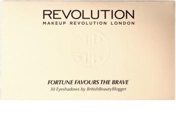 Makeup Revolution Fortune Favours the Brave paleta očních stínů se zrcátkem a aplikátorem