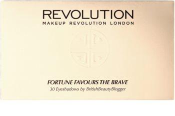 Makeup Revolution Fortune Favours the Brave палитра от сенки за очи с огледалце и апликатор