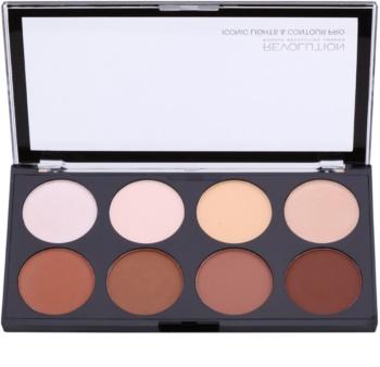 Makeup Revolution Iconic Lights and Countour Pro arckontúr paletta