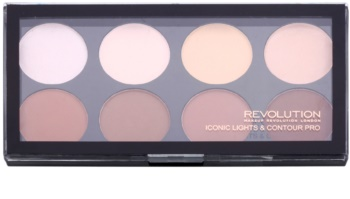 Makeup Revolution Iconic Lights and Countour Pro paleta na kontúry tváre