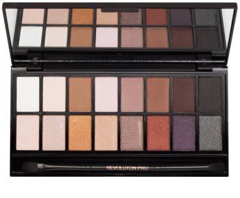Makeup Revolution Iconic Pro 1 paletka očných tieňov so zrkadielkom a aplikátorom