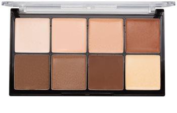 Makeup Revolution Ultra Pro HD Light Medium paleta na kontúry tváre krémová
