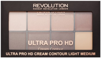 Makeup Revolution Ultra Pro HD Light Medium paleta za konture obraza kremasta