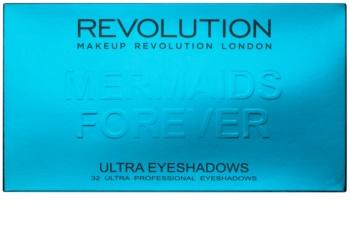 Makeup Revolution Mermaids Forever paletka očných tieňov so zrkadielkom