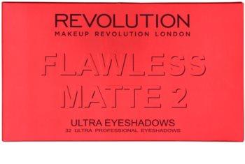 Makeup Revolution Flawless Matte 2 палитра от сенки за очи с малко огледало