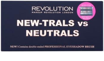 Makeup Revolution New-Trals vs Neutrals paleta očných tieňov so zrkadielkom a aplikátorom
