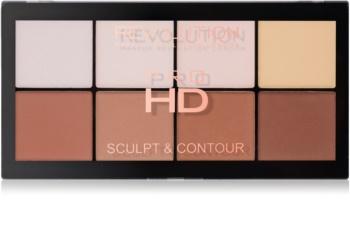 Makeup Revolution Pro HD Sculpt & Contour paleta pentru contur facial