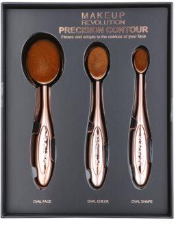Makeup Revolution Pro Precision Brush set perii pentru contur