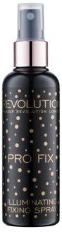 Makeup Revolution Pro Fix rozjasňující fixační sprej