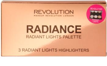 Makeup Revolution Radiance paleta de farduri iluminatoare