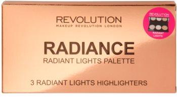 Makeup Revolution Radiance палетка роз'яснюючих пудр