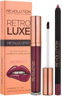 Makeup Revolution Retro Luxe набір для губ металік