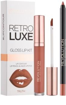 Makeup Revolution Retro Luxe sada na pery
