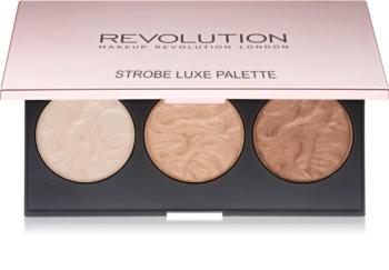 Makeup Revolution Strobe Luxe paleta rozjasňovačů