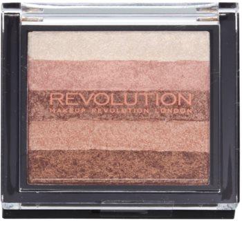 Makeup Revolution Shimmer Brick autobronzant și iluminator 2 in 1