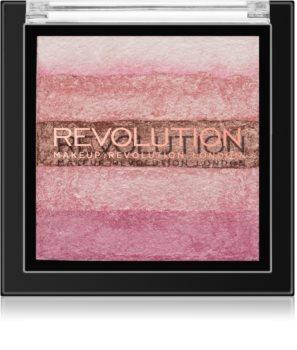 Makeup Revolution Shimmer Brick bronzer in osvetljevalec 2 v 1