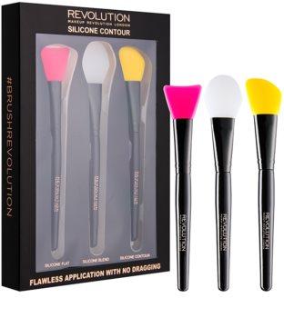 Makeup Revolution Silicone Contour kit de pinceaux contouring en silicone