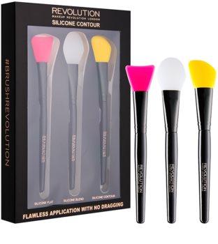 Makeup Revolution Silicone Contour sada silikónových štetcov na kontúrovanie