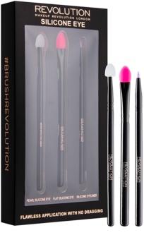Makeup Revolution Silicone Eye kit de pinceaux en silicone yeux