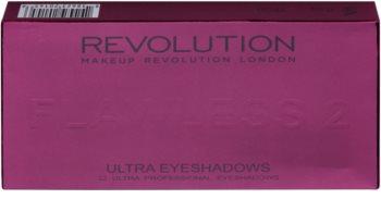 Makeup Revolution Flawless 2 paletka očných tieňov so zrkadielkom