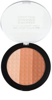 Makeup Revolution Ultra Bronze Shimmer HIghlight Bronzing Illuminating Powder