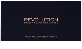 Makeup Revolution Ultra Cream Contour paleta na kontury obličeje
