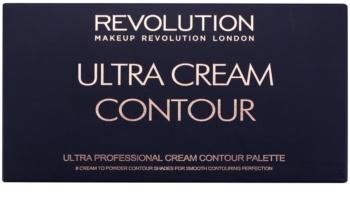 Makeup Revolution Ultra Cream Contour paleta na kontúry tváre