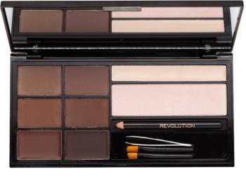 Makeup Revolution Ultra Brow Компактний засіб для підводки бровей