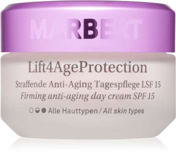 Marbert Anti-Aging Care Lift4AgeProtection creme de dia reafirmante e antirrugas SPF 15