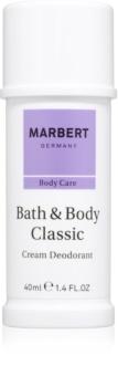 Marbert Bath & Body Classic Deodorant Cream for Women 40 ml